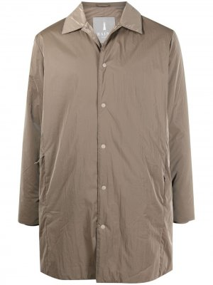 Пальто на кнопках Rains. Цвет: нейтральные цвета