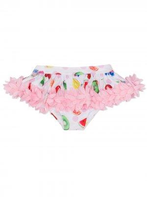 Плавки бикини с принтом Monnalisa. Цвет: розовый