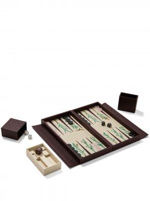 Дорожный набор Palm для игры в нарды Alexandra Llewellyn. Цвет: коричневый