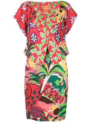 Юбка с блузка цветочным принтом Christian Lacroix Vintage. Цвет: красный