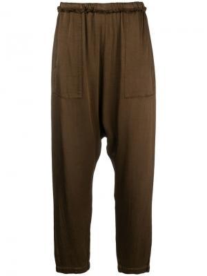 Расклешенные брюки свободного кроя Raquel Allegra. Цвет: коричневый