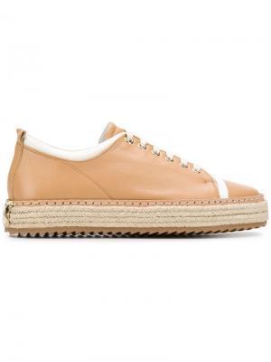 Lace-up sneakers Lanvin. Цвет: нейтральные цвета
