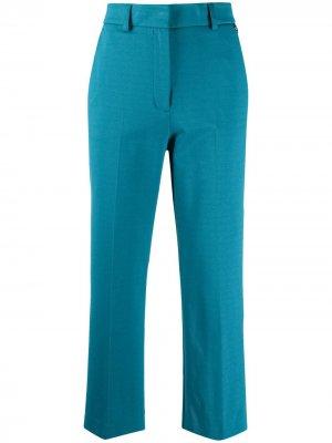 Укороченные брюки прямого кроя Twin-Set. Цвет: синий