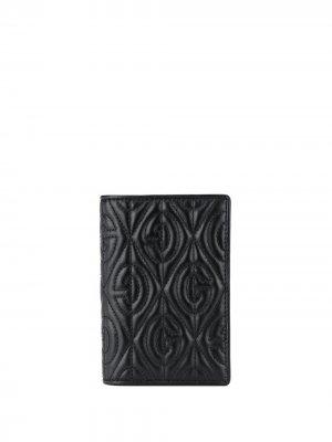 Стеганая обложка для паспорта с узором G Rhombus Gucci. Цвет: черный