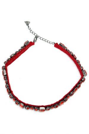 Шейное украшение DIVA. Цвет: красный