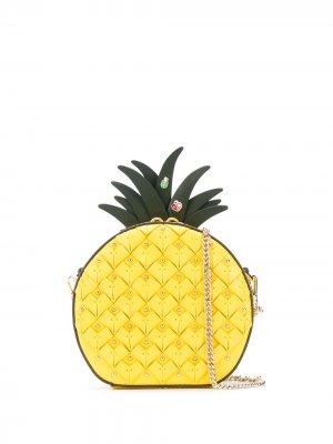 Сумка в форме ананаса Kate Spade. Цвет: желтый