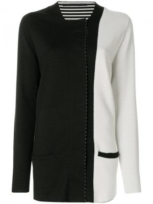 Colour block cardigan Haider Ackermann. Цвет: черный