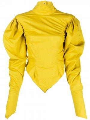 Блузка Sulphur Thebe Magugu. Цвет: желтый