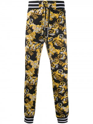 Спортивные брюки с принтом Versace Jeans Couture. Цвет: черный