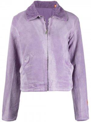 Куртка на молнии с принтом тай-дай Heron Preston. Цвет: фиолетовый