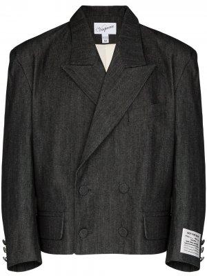 Джинсовый пиджак с широкими плечами Vaquera. Цвет: серый