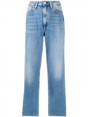 Прямые джинсы Ruth с завышенной талией Rag & Bone. Цвет: синий