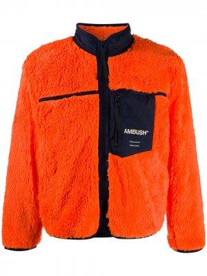Куртка с логотипом AMBUSH. Цвет: оранжевый