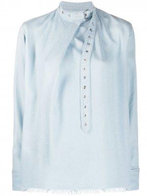 MarquesAlmeida блузка с пряжкой на воротнике Marques'Almeida. Цвет: синий