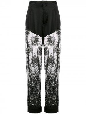 Кружевные пижамные брюки Cillis Fleur Du Mal. Цвет: черный