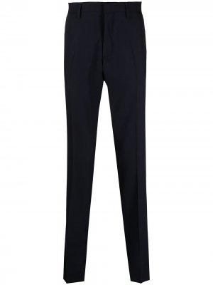 Прямые брюки строгого кроя Tiger of Sweden. Цвет: синий
