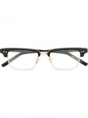 Очки Statesman three Dita Eyewear. Цвет: черный