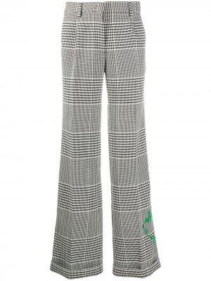 Клетчатые брюки прямого кроя Off-White. Цвет: черный