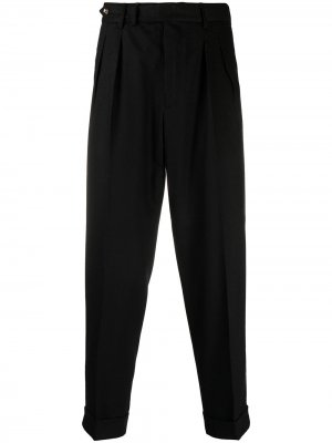 Зауженные брюки строгого кроя Pt01. Цвет: черный