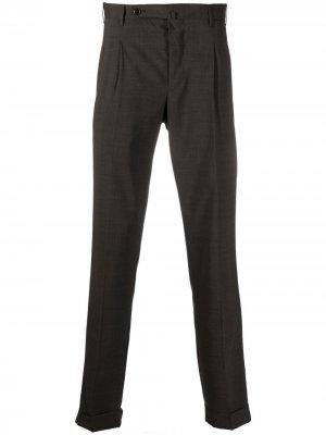 Узкие брюки строгого кроя Pt01. Цвет: коричневый