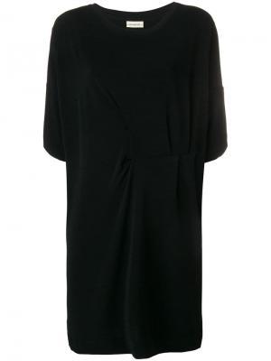 Pleated waist dress By Malene Birger. Цвет: черный