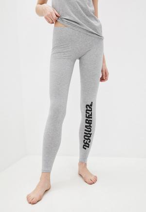 Леггинсы Dsquared2 Underwear. Цвет: серый
