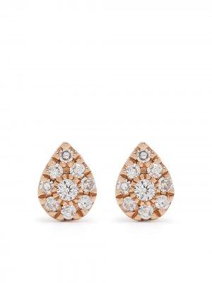 Серьги Pear из розового золота с бриллиантами Djula. Цвет: розовый
