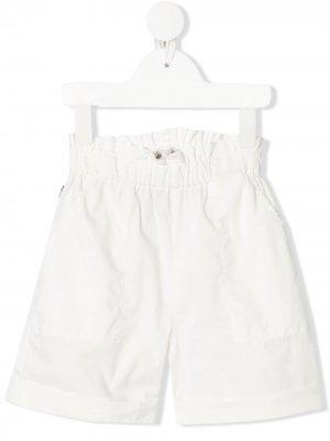 Расклешенные шорты с эластичным поясом Woolrich Kids. Цвет: белый