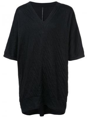 Удлиненная футболка свободного кроя Nude. Цвет: черный