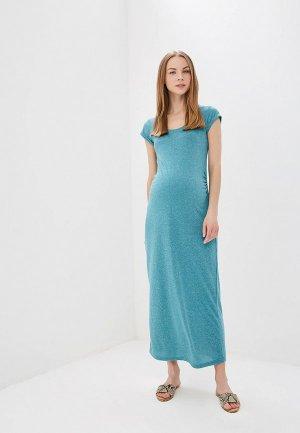 Платье Mamalicious. Цвет: бирюзовый