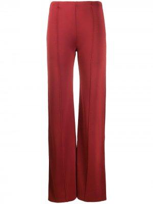 Расклешенные брюки Valentino. Цвет: красный