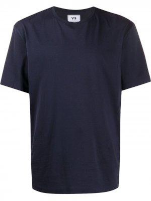 Базовая футболка Y-3. Цвет: синий