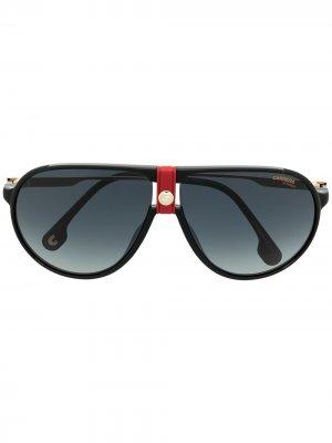 Солнцезащитные очки с логотипом Carrera. Цвет: золотистый