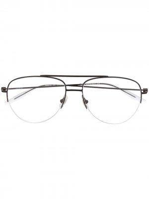 Очки-авиаторы Montblanc. Цвет: черный