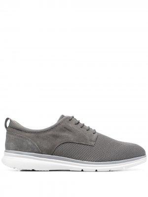 Туфли на шнуровке Geox. Цвет: серый