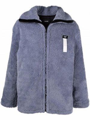 Куртка с нашивкой-логотипом We11done. Цвет: синий