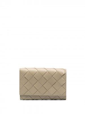 Ключница с плетением Intrecciato Bottega Veneta. Цвет: нейтральные цвета