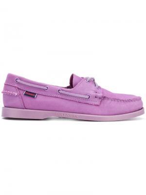 Мокасины со шнуровкой Sebago. Цвет: розовый
