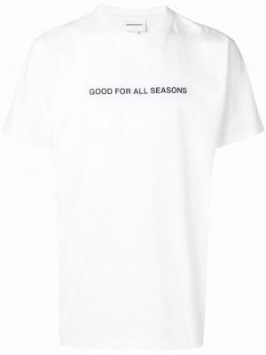 Футболка Good For All Seasons Norse Projects. Цвет: белый