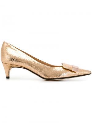 Туфли-лодочки с заостренным носком SR1 Sergio Rossi. Цвет: золотистый