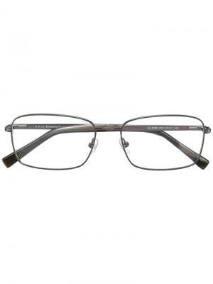 Оптические очки в квадратной оправе Ermenegildo Zegna. Цвет: металлик