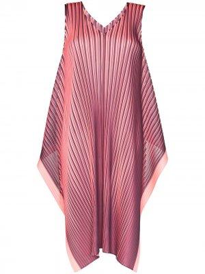 Плиссированное платье миди Alt Bright Pleats Please Issey Miyake. Цвет: розовый