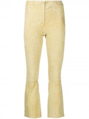 Расклешенные брюки Arma. Цвет: желтый