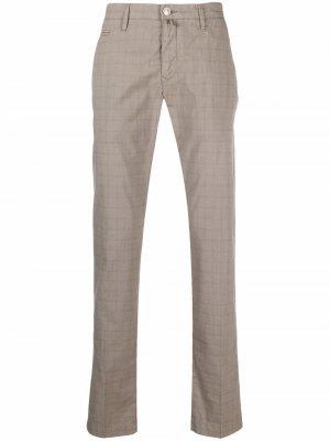 Узкие брюки чинос Jacob Cohen. Цвет: коричневый