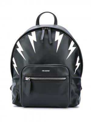 Рюкзак с принтом Neil Barrett Kids. Цвет: черный