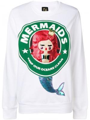 Толстовка Mermaids Nil & Mon. Цвет: белый
