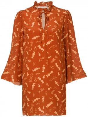 Платье Spielmann Karen Walker. Цвет: оранжевый