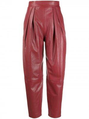 Зауженные брюки с завышенной талией Alberta Ferretti. Цвет: красный