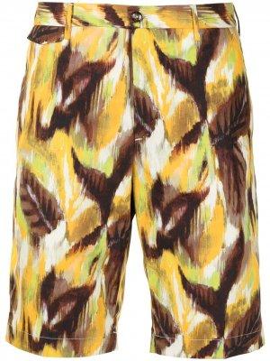 Шорты-бермуды с принтом Pt01. Цвет: желтый