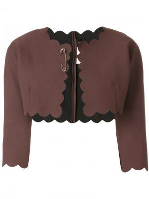 Болеро с волнистой окантовкой Comme Des Garçons Vintage. Цвет: коричневый